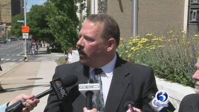 Ted Hakey Jr. following his sentencing in June. (WFSB file photo).