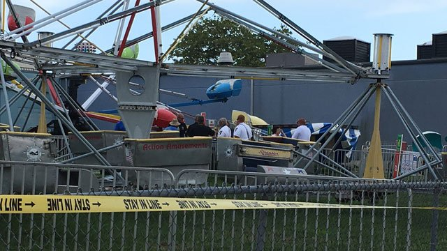 Six children were taken to the hospital after an electrical shock while on an amusement ride in New London. (WFSB)