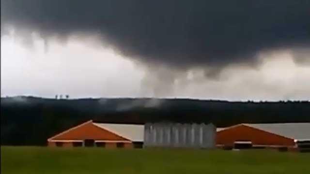Ominous clouds seen in Woodstock on Tuesday. (Brian Herlihy)