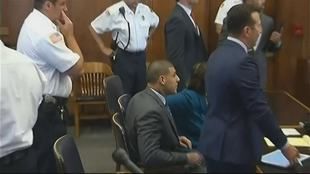 Aaron Hernandez's lawyer forgot his name during a hearing on Tuesday. (CBS photo)