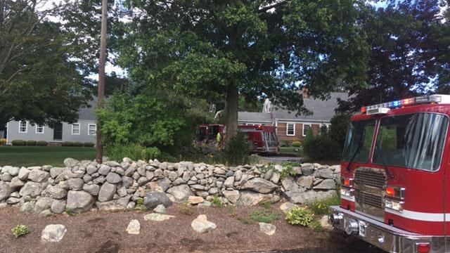 Garage fire in Stonington is under investigation. (WFSB)