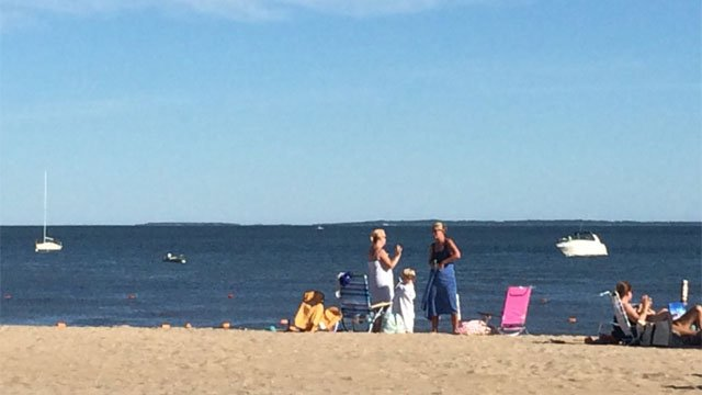 A family is safe after their boat took on water in Long Island Sound on Wednesday. (WFSB)
