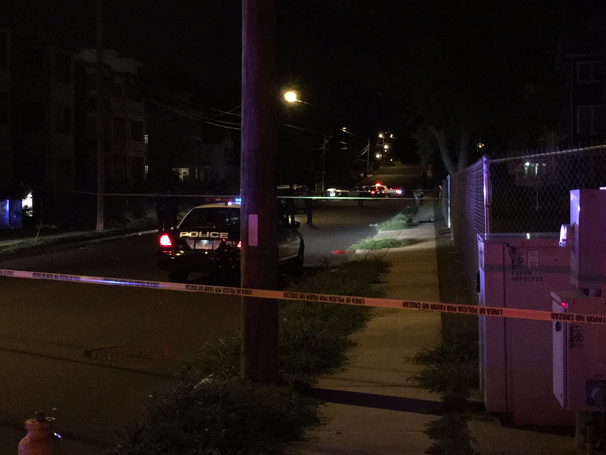 Shooting on Cleveland Avenue and Main Street. (WFSB photo)