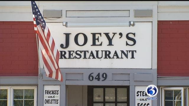 Joey's Restaurant on Burnside Avenue is closing its doors Sunday due to a state road improvement project. (WFSB)