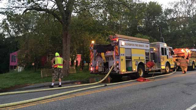 A fire broke out at a home on Lebanon Avenue in Colchester Tuesday morning. (WFSB photo)