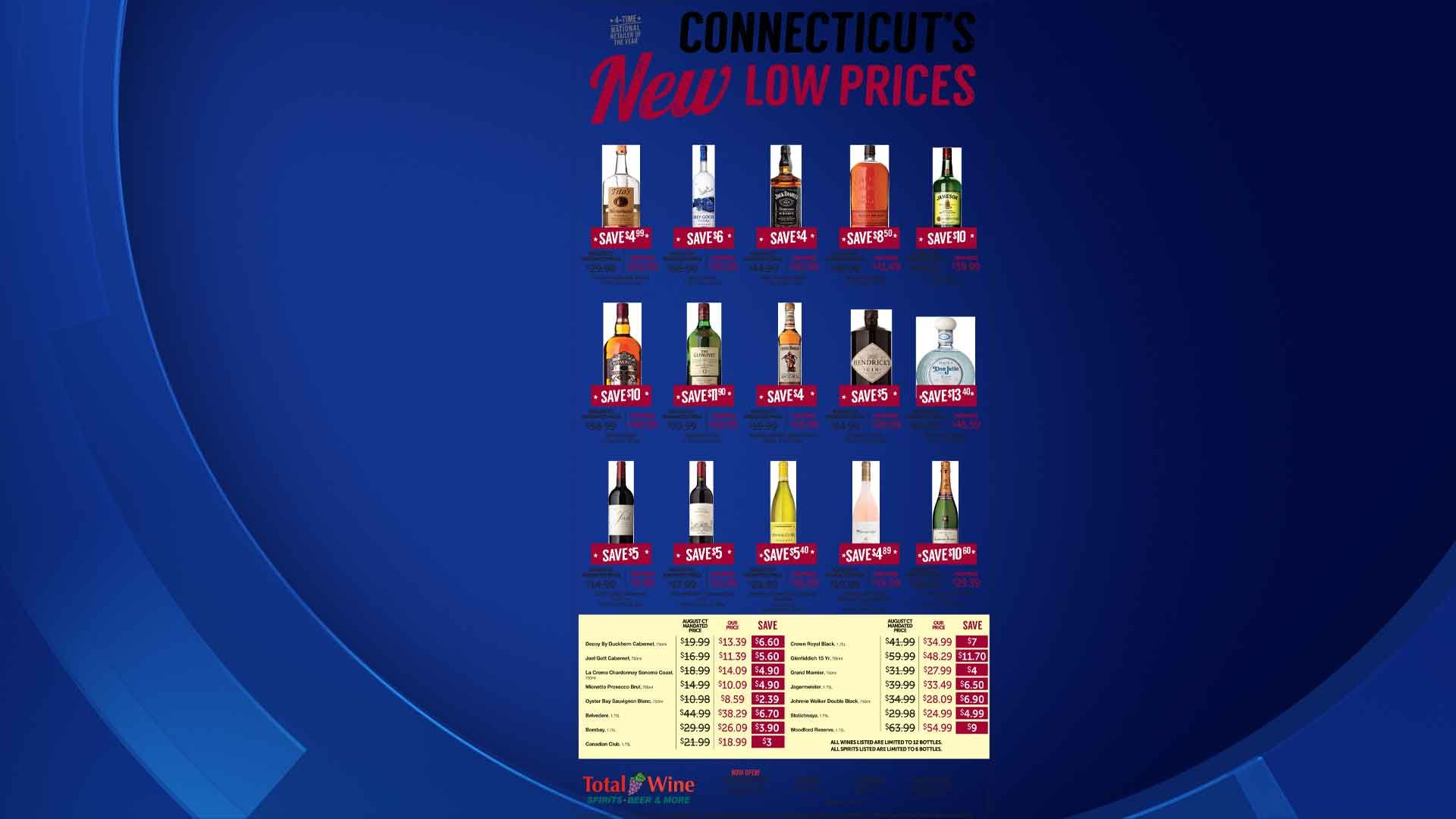 This a copy of ad that Total Wine & More is running newspapers statewide on Tuesday. (Total Wine & More)