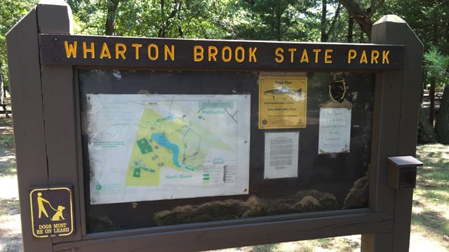 Wharton Brook State Park in Wallingford had its swimming area closed on Wednesday. (WFSB photo)