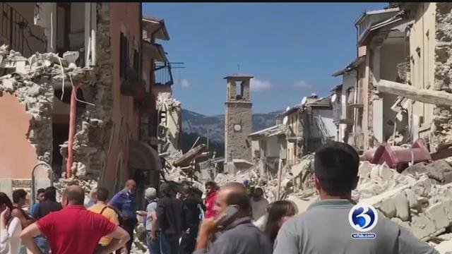 Aftermath of the earthquake in Italy (CBS News)