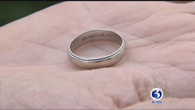 A man's wedding ring went missing at the beach, but thankfully someone else found it. (WFSB)