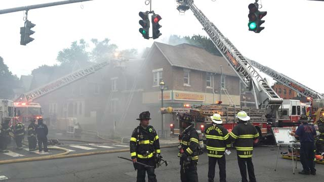 Crews were called to a fire at a pizza restaurant on Thursday. (WFSB)