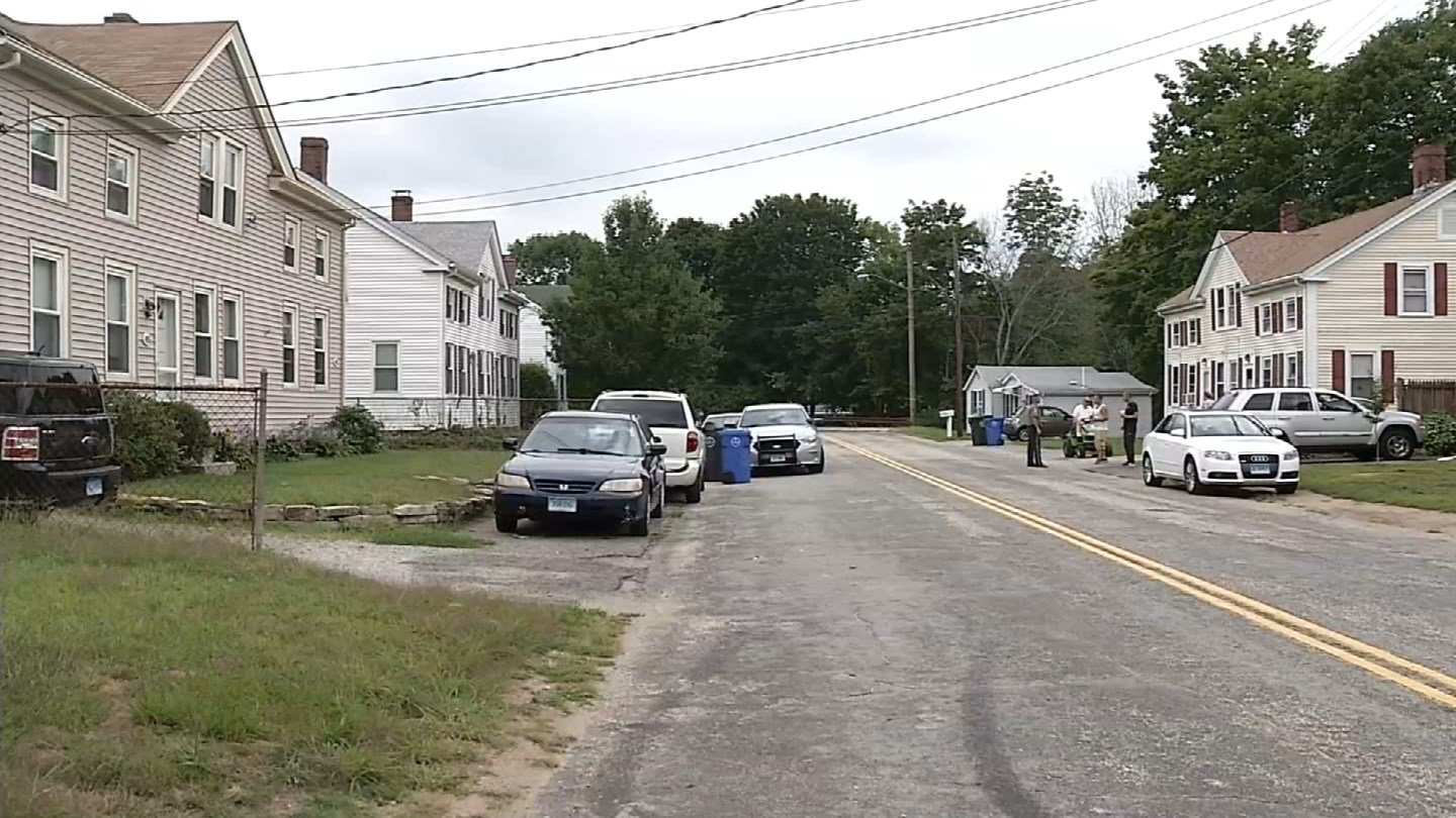 A child reported an attempted abduction on River Street in Baltic Thursday afternoon. (WFSB photo)