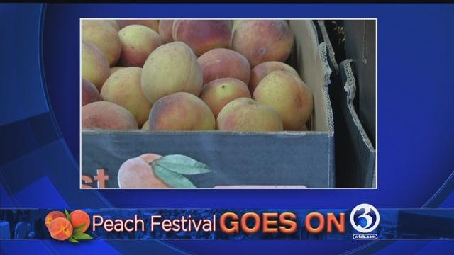 The  Manchester Peach Festival will go on as planned Friday. (WFSB)