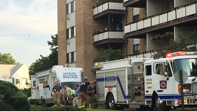 One person was killed in a West Haven apartment fire Monday morning. (WFSB photo)