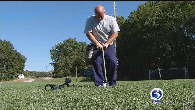 Mike Lyman, of East Hampton, said he has a passion for metal detecting. (WFSB)