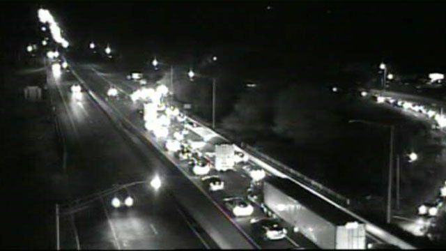 I-95 closed in East Lyme after crash. (CT DOT)