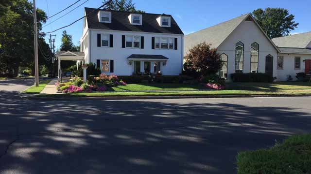 A teen was hit by a car on Bridgeport Avenue in Milford on Tuesday morning. (WFSB)
