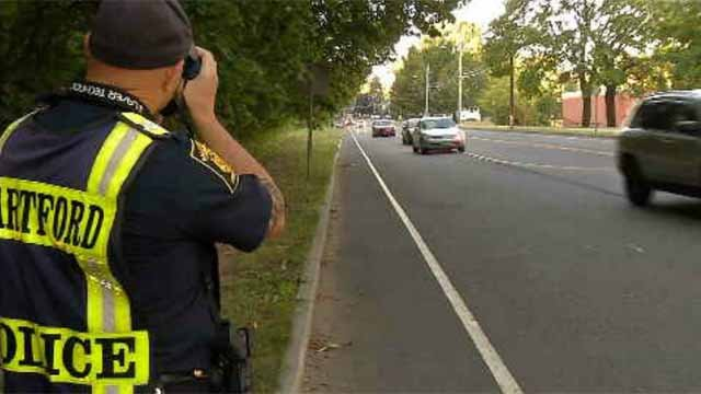 Hartford police were cracking down on speeders as the school year began. (WFSB)