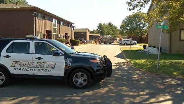An apartment complex was evacuated on Tuesday after a gas line was hit. (WFSB)