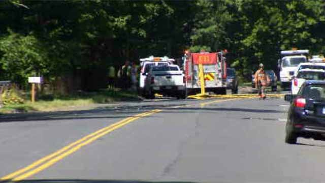 A gas leak was reported in Wethersfield on Tuesday. (WFSB)