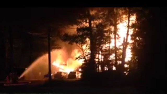 A viewer sent in video of a fire that was reported on Newgate Road.