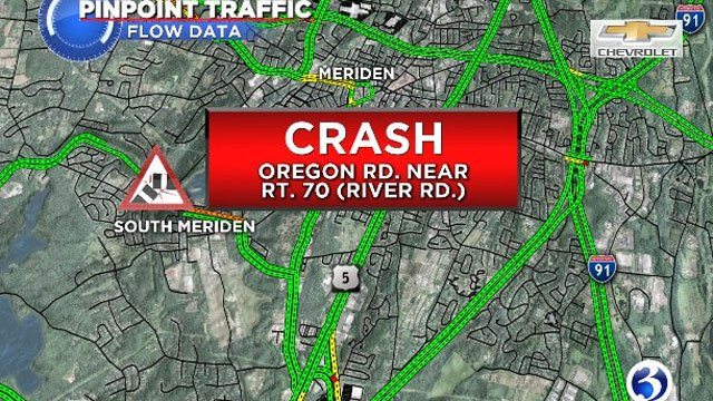 The crash was reported on Oregon Road near Route 70 around 9:30 a.m. (WFSB)