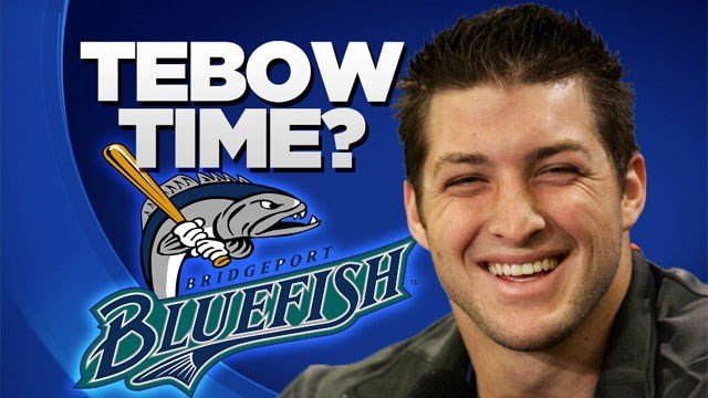 TheBridgeport Bluefish want Tim Tebow to play for them. (WFSB)