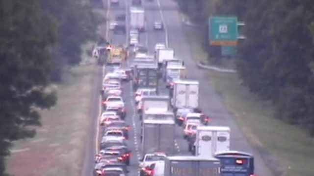 I-84 eastbound in Southington (CT DOT)
