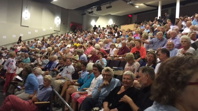 The meeting in Old Lyme was at capacity with more than 500 people attending on Wednesday night. (WFSB)