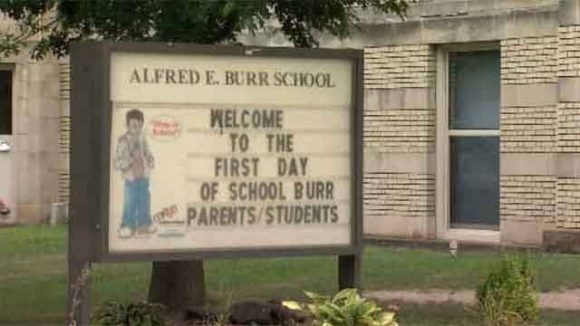 Some students at Burr School missed the first day because they didn't have a bus. (WFSB)