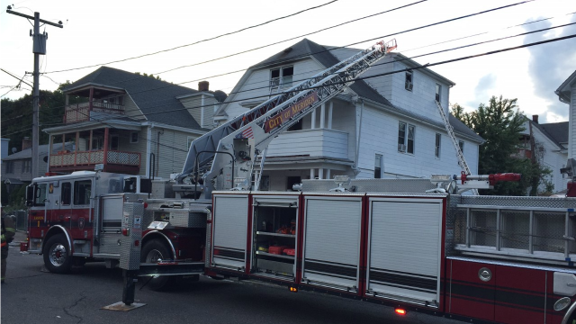 Firefighters responded to a house fire on Prescott Street. (WFSB)