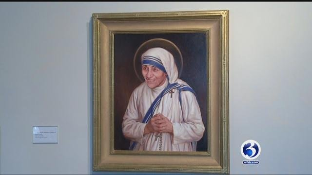When Mother Theresa is declared a Saint in Rome Sunday, a New Haven painting will be front and center. (WFSB)