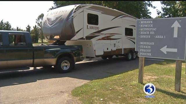 State campgrounds closed at noon due to weather threat. (WFSB)
