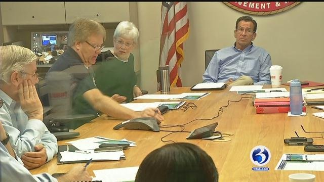 Gov. Dannel Malloy partially activated Emergency Operations Center in Hartford on Sunday night. (WFSB file photo)