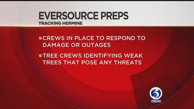 Eversource said they were prepared for Hermine. (WFSB)