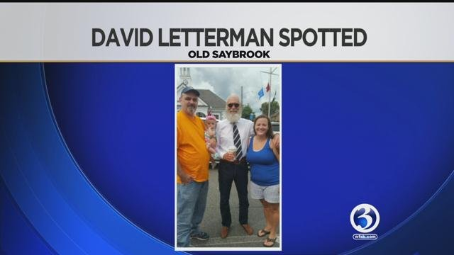 David Letterman was spotted in Connecticut this weekend. (WFSB)