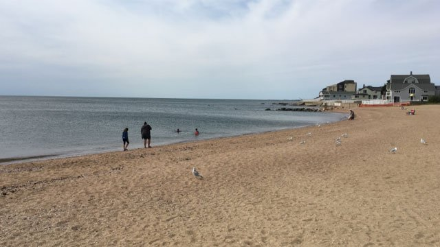 East Haven beaches remain open on  Monday. (WFSB)