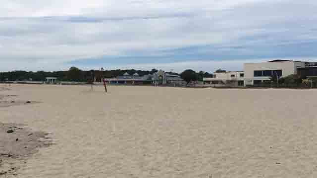 Ocean Beach was closed on Monday because of possible riptides (WFSB)