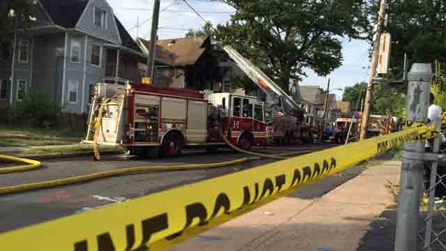 Crews were called to a fire on Deerfield Avenue in Hartford on Monday. (WFSB)