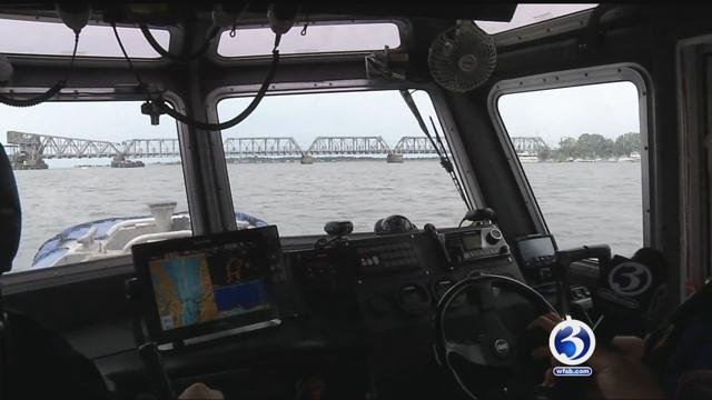 Police stepped up patrols on the water on Labor Day as Hermine moved closer. (WFSB)