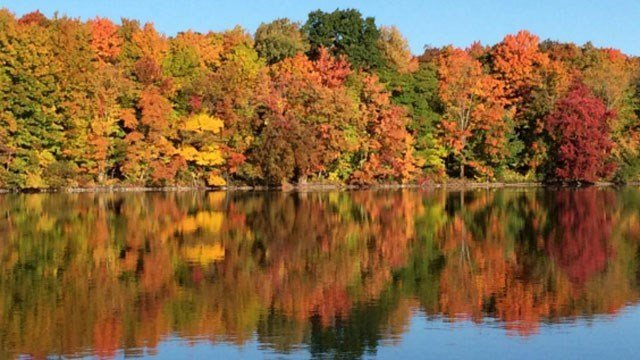 Leigh shot this photo of Crescent Lake in Southington last year (@LiveLaughLeigh)