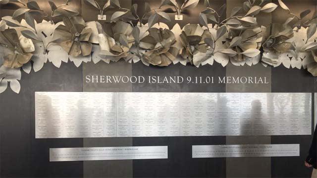 The 9/11 memorial at Sherwood Island State Park (WFSB)