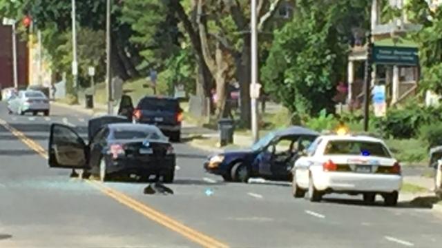 A crash on Main Street in Hartford has police investigating. (WFSB photo)