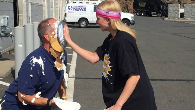 Nicole Nalepa pies Tom Zukowski to 'whip childhood cancer.' (WFSB photo)