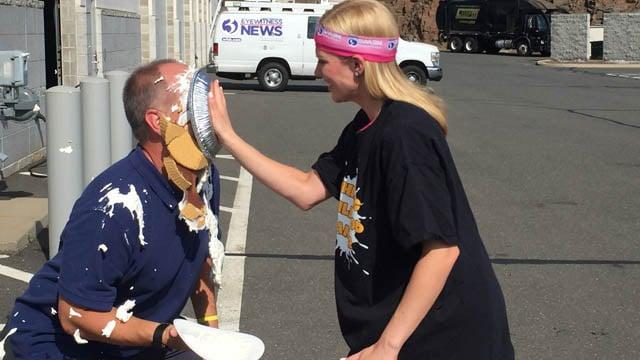 Nicole Nalepa pies Tom Zukowski to 'whip childhood cancer.' (WFSB photo)