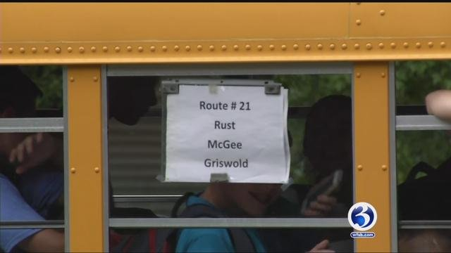 A student in Berlin is gathering support for a petition he created to have an additional bus route added. (WFSB)