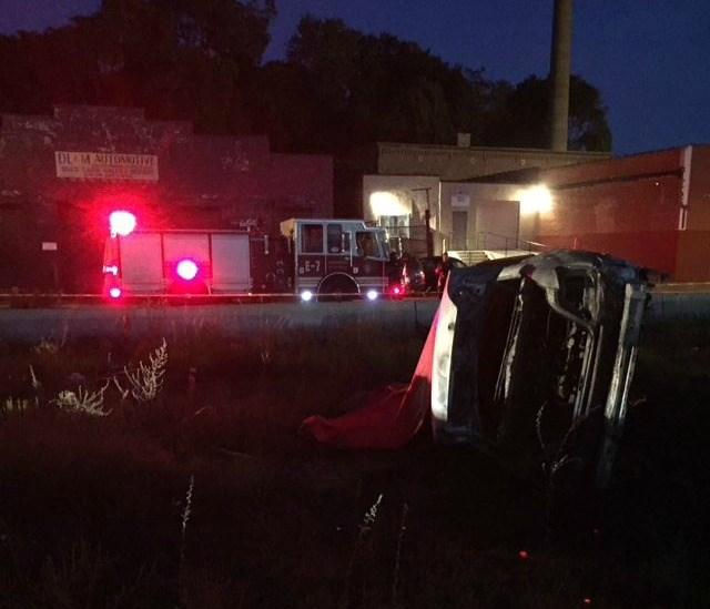 Crash scene overnight along Park Street.  (Deputy Chief Foley via Twitter)