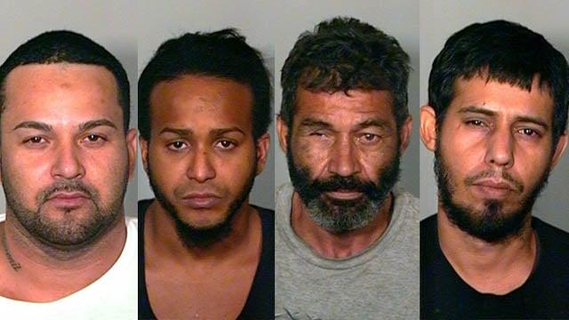 Mariano Rosado-Rolon,Derik Romero-Morales,Frank Badillo andAlberto Ortiz-Mojica. (New London police photos)