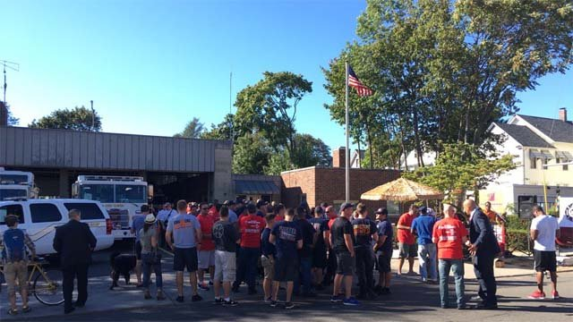 The union held a rally on Monday afternoon at Engine Number 9 (WFSB)
