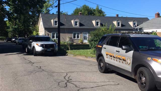 Police activity prompted a 'lock-out' at a Simsbury elementary school (WFSB)