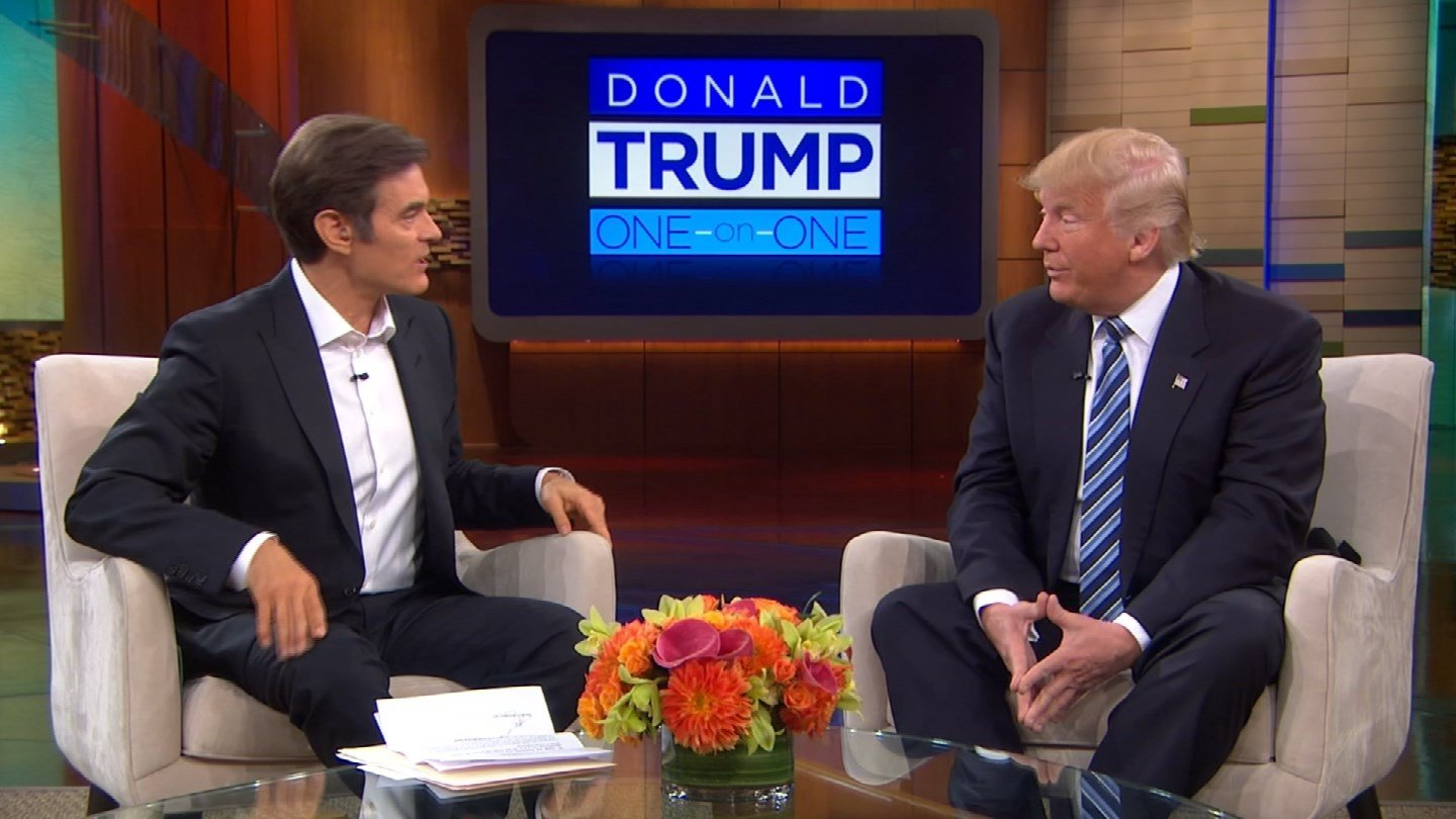 Dr. Oz spoke with Donald Trump about his medical records. (CBS photo)